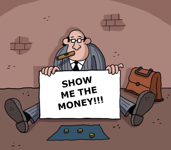 man begging