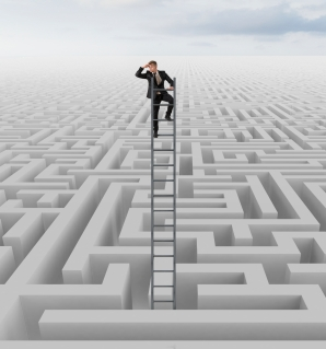 Looking for the solution of the maze