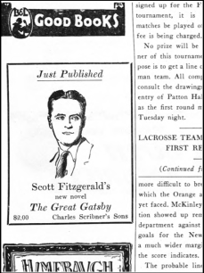Great Gatsby original ad